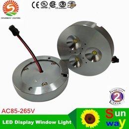 Wholesale Dimmable Led Cabinet Lights - Latest Price Promption ! CREE 6W Dimmable Warm Pure Cold White AC110V AC220V AC230V LED Puck Light for cabinet or display box led downlight