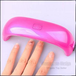Wholesale Gel Nails Drying Light - Gel Polish Lamp Led UV Light Nail Dryer Finger Dry Mini LED Nail Lamp Cute NailArt 9W
