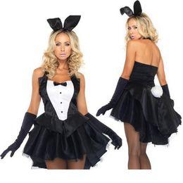 Wholesale Lingerie Sexy Bunny Girls - Halloween women Xmas sexy lingerie hot costumes Dovetail pole dance bunny fantasias Rabbit girl eroticas uniform nightclub KY219