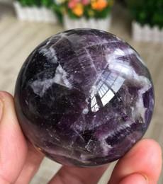 NATURAL Dream Amethyst Crystal esfera bola Orb Gem Stone en venta Decoraciones para el hogar Envío gratis desde fabricantes