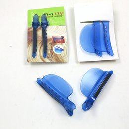 (2 pz / borsa) Spedizione gratuita Colore blu all'ingrosso in plastica facile velocità Clip separatore Clip per capelli Styling Strumenti Sezione di montaggio Installazione da