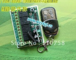 Wholesale Wholesale Factory Free Shipping Code - NEW ! Free Shipping Learning Code 315MHz DC 12V 10A 4CH Wireless Remote Control Switch System factory Sell Directly