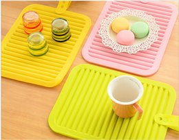 Wholesale Anti Skid Mats - Silicone Pot Holders high quality candy color silicone Cup mat insulation silicone anti-skid anti-hot Table Decoration Mats Pads wholesale