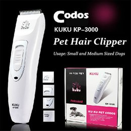 Wholesale Dog Hair Machine - Professional Pet Trimmer Scissors Dog Cattle Rabbits Shaver Horse Grooming Electric Hair Clipper Cutting Machine Codos KP3000