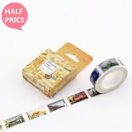 Wholesale Japanese Washi Masking Paper - Wholesale-Japanese Washi masking Tape Paper 15MM * 10M Longchang Stamps From The World Adesivo Stickers kawaii Decorative Tapes Papeleria