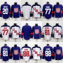 Wholesale Mens World - 77 TJ Oshie 81 Phil Kessel 88 Patrick Kane Jersey 2016 World Cup of Hockey Team USA Mens Hockey Jersey Cheap