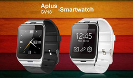 Wholesale Gsm Mobile Phone Watch Bluetooth - 6260A Smartwatch Aplus Gv18 Bluetooth Health Mp3 Waterproof Pedometer Wearable Device With SIM Card Mobile GSM Android Smart Watch Phone