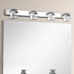 Wholesale Mirror Wall Light Crystal - Fashion 610mm 4 crystal bathroom mirror light 85-265V 12W led bedroom washing room wall lamp factory wholesale