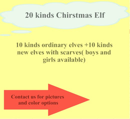Wholesale christmas cloth for kids - HOT sale! 20 colors Elf With Scarf Dolls Christmas Elf Plush toys On The Shelf Elves Xmas dolls For Kids Holiday And Christmas Gift