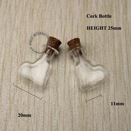bouteille à bouchon de verre Promotion Grosses soldes! 20pcs / lot 1-2ml Effacer Vial échantillon en verre, Mini Vintage Verrerie, Bouchon Bouchon en liège, Livraison gratuite