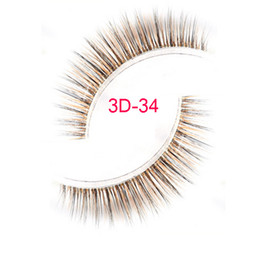 Wholesale Silk Strips - 3D-34 brown fake eyelashes 3D silk eyelashes, brown false eyelashes brown lashes