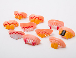 Wholesale Big Tooth Costume - Joke Teeth False Teeth Rotten April Fool's Day Funny Fake Teeth Dentures Halloween Prop Costume Fancy Dress Party