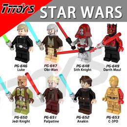 Wholesale Toy Warrior Knights - PG8021 Building Blocks Star Wars Obi-Wan Jedi Knight Sith Warrior Darth Maul C3PO Anakin Luke Palpatine Toys Figures