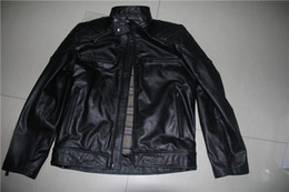 Wholesale Leather Look Tops - Top leather jackets real photoes to show Men high quality leather jackets slim casual jackets pockets with zipper s-xxxl Look here !!!