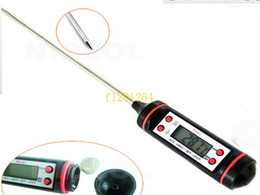 Wholesale Surface Probe - 500pcs lot Free Shipping Digital Cooking Thermometer Food Probe Meat Kitchen BBQ Selectable Sensor Gauge Heat Indicator