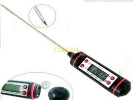 sensor de termómetro digital de alimentos sonda Rebajas 500 unids / lote Envío Gratis Termómetro de Cocina Digital Sonda de Carne Carne BBQ Indicador de Sensor Indicador de Calor seleccionable