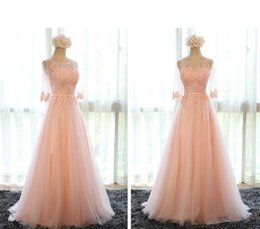 Wholesale Designs Party Dresses - New Design Formal Evening Dresses 2016 Half Sleeve Appliques Sexy Back Floor Length Silver Blush Red Prom Party Pageant Gowns Vestidos Cheap