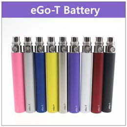 Wholesale Ecig T - eGo-t ecig non-adjustable battery - 20PCs. 650mAh 900mAh 1100mAh electronic cigarette battery 510 thread for ce3 ce4 atomizer mt3 protank h2