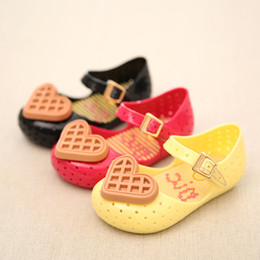 Wholesale Wholesale Girls Childrens Footwear - cookies Mini Melissa Sandal Shoes Kids Sandals Childrens Shoes Girls Jelly Sandals 2016 Summer Sandals Kids Footwear Children Sandals
