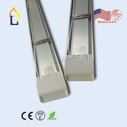 Wholesale Pf Lighting - (5pc lot ) Led purification tube light 4FT 55W 5FT 60W PF 0.9 led flat batten light AC100-277V stock in USA