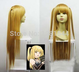 Wholesale Death Note Cosplay Wigs - Free shipping Popular NEW Death note Amane Misa blonde Long Cosplay Wig