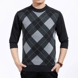Wholesale Top Brands Mens Sweater - Wholesale-Men Pullover Men Sweater Brand Thick Winter Casual Knitted Sweater Men Plus Size Men O-Neck Sweater Patterns Mens Clothes Tops