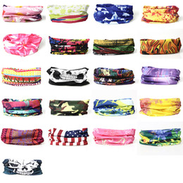 Wholesale Free Sunscreen - 2016 bandanas Multifunctional Outdoor Cycling Scarf Magic turban Sunscreen Hair band Riding mask cap for men Cycling 205 styles DHL free