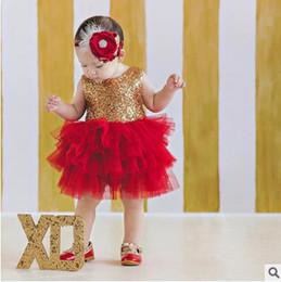 Wholesale Big Bow Dress Girls - Kids party dress girls sequins Big Bows zipper back TUTU dress 2017 new Summer children sleeveless mesh gauze dress kids clothes C1283