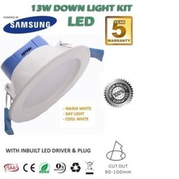 Wholesale Dimmer 12 - 12-13W LED DOWNLIGHT KIT WARM   COOL WHITE  DAY LIGHT DIMMABLE & NON DIM WHITE FRAME CUTOUT:90-100mm
