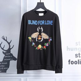 Wholesale Thick Cardigan Sweaters For Men - BLIND FOR LOVE Brand Men Hoodie Sweatshirts Zippered Bee Flowers Embroidered Print Cardigan Long Sleeve Coat Sweaters Casual Streetwear 1006