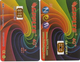 Wholesale Gpp Ios Wholesale - 2017 New Original GPP 4G+ Unlock sim card Perfect SIM Unlock Card Official IOS 10 ios 11 can unlock for all GSM CDMA in world DHL free