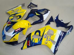 Wholesale Suzuki Motorcycle Fairings Corona - New motorcycle ABS Fairing kit for SUZUKI GSXR 1000 K2 2002 2001 2002 fairings set GSXR1000 00 01 02 ABS bodykits R1000 yellow blue corona