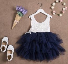 Vestido de encaje de la nueva muchacha del verano gasa princesa chaleco vestido partido de la muchacha vestido en capas vestido de los niños ropa E16900 desde fabricantes