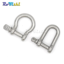 Wholesale Stainless Steel Shackles For Bracelets - 10pcs lot Stainless Steel UD Anchor Shackle Screw Pin for Paracord Bracelet