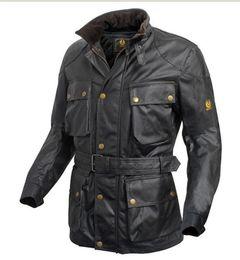 Wholesale Genuine Leather Jackets Sale - Fall-hot! vintage brand International wax cotton man jacket men waterproof coat male waxed motorcycle outerwear good quality on sale