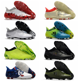 Wholesale Cheap Soccer Shoes Messi - 2017 ace 17 + Purecontrol mens football soccer shoes X 16 Purechaos FG AG cheap soccer cleats authentic football boots original messi shoes