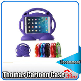 Wholesale Ipad Cover Foam - Kids Cute Thomas Cartoon ShockProof Safe EVA Foam Stand Case Cover For iPad 2 3 4 ipad air1 2