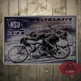 Wholesale Iron Rider - Motorcycle Retro Man Rider 21VS23 Iron Metal Tin Signs Poster Wall Decor 20X30cm C-82 160909#