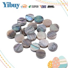 Wholesale Guitar Dot Inlay - Wholesale- Yibuy 6mm Green Abalone Mother of Pearl Shell Fingerboard Dots with Inlay Material For Guitar Pack of 20