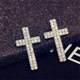 Canada Convient pandora Stud boucles d supplier european cross charm Offre
