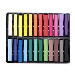 Wholesale Beauty Chalk Hair - Free Shipping Beauty 24 Pcs Convenient Temporary Super Hair Dye Colorful Chalk GUB#