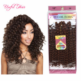 Wholesale Crochet Loops - 3pcs pack Synthetic crochet braids 10inch jerry curly twist synthetic braiding hair ombre pre looped savana jerry curl hair wave twist