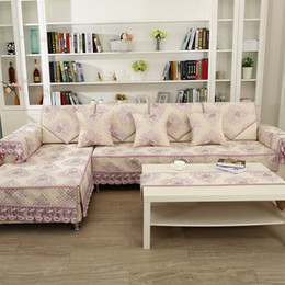 Wholesale Korean Style Sofas - Unique Sofa Pillow Couch Cushion Cover Slipcovers Furniture Protector Cotton Four Seasons European American Style free shipping