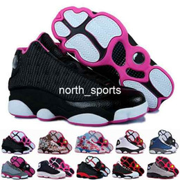 Wholesale High Cut For Womens - 2016 new retro 13 XIII basketball shoes for women,high quality womens air dan retros 13s athletic sport sneakers trainers shoe red flower