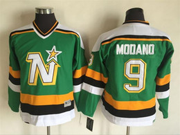 Wholesale Star Boys Top - Top Quality ! 2016 Youth Kids CCM Minnesota North Stars Ice Hockey Jerseys Cheap #9 Mike Modano Boys Jerseys Authentic Throwback Jerseys