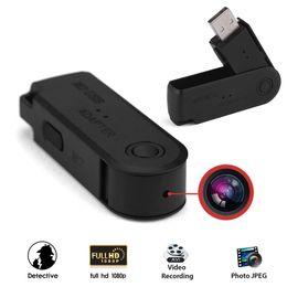 Wholesale Flash Memory Recorder - 32GB Mini HD 1080P Hidden USB Memory Flash Camera Portable U Disk Spy Camcorder Mini Pinhole Video Recorder Surveillance Camera
