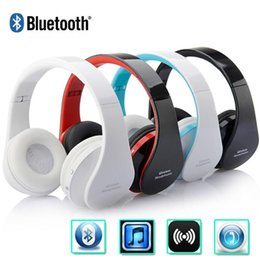 Wholesale Mp3 Mp4 Earphone - Foldable Bluetooth Headphone Wireless Stereo Headset Hands-free With MIC MP3 Earphone For Smartphones Samsung iPhone Tablet PC