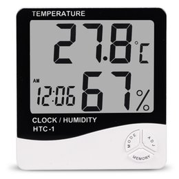 Wholesale Large Time Clock - 2018 Indoor home electronic digital large screen temperature hygrometer plus time alarm clock