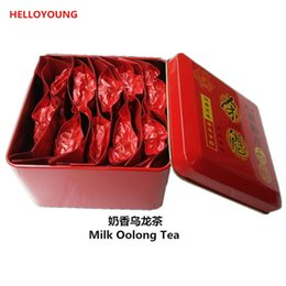 Wholesale Tieguanyin Tea Gift - C-WL016 Milk Oolong Tea 155g 10 packs Superior Healthy Chinese Milk Oolong Tea,Milk TieGuanYin Tea,Green Food Gift Packing Iron cans Packing