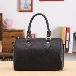 Wholesale Bag Elegant Black White - 2016 New Women Lady Vintage Sweet Casual PU Leather Zip Elegant Handbag Crossbody Pillow Tote Bag White Black Red Free Shipping
